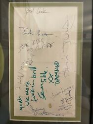 Sex Pistols, Damned, Johnny Thundersand The Heartbreakers Signed. Leeds Poly 1976