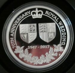 2017 1 Silver Proof Coin 70th Anniversary Royal Wedding Perth Mint 2093/5000