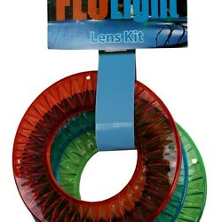 Flolight 24739 Colored Lens Kit - Red Blue Green