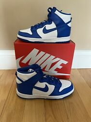 Nike Dunk High Gs Game Royal Db2179-102 Size 7y In Hand Free Shipping