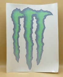 5x Monster Energy Monster Claw Window Stickers About 15 X 12 Each Sheet