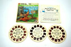 Gaf View-master Winnie The Pooh And Tigger Too 3 Reel Set W/ Booklet And Envelope