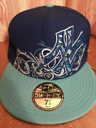 New York Yankees New Era 59fifty Men's Fitted Cap Hat 7.5 Embroidered Mlb Hats