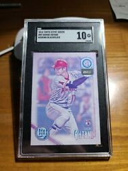 2018 Topps Gypsy Queen Shohei Ohtani Rc 89 Sgc 10 Missing Black Plate