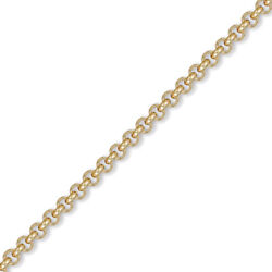 Jewelco London Mens 9ct Gold Round Belcher 4.8mm Chain Necklace