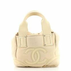 Cc Side Flap Tote Suede With Shearling Small