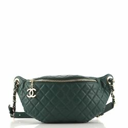 Banane Waist Bag Quilted Leather