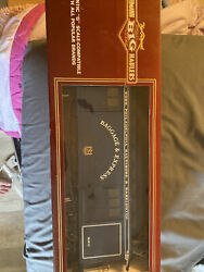Bachmann 97443 Full Baggage And Express Train Car Lighting And Metal Wheels