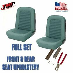 Tmi Front And Rear Seat Upholstery And Hog Rings Turquoise 1966 Mustang Convertible
