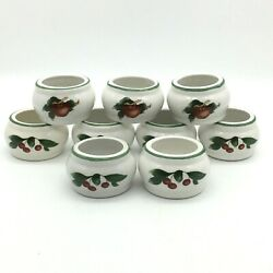 The Cades Cove Collection Apples Napkin Rings Holders Set Of 9