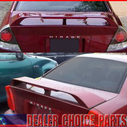 1997-1999 2000 2001 2002 Mitsubishi Mirage Factory Style Spoiler W/led Unpainted