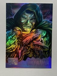 1995 Marvel Masterpieces - Holoflash Card - 3 Of 8 Dr. Doom Nm+/m