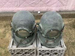 Vintage Toa Submersible Co., Ltd. 2 Diving Helmets In Good Condition