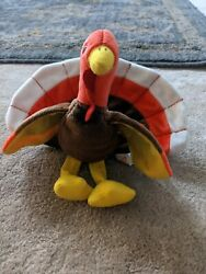 Rare Ty Beanie Babies Gobbles The Turkey With Tag Error Original