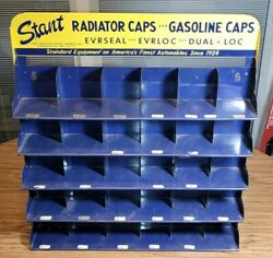 Vintage Stant Radiator And Gasolie Caps Service Station Display 22andrdquo