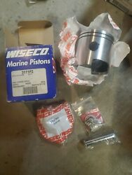 Wiseco Piston Kit Omc Johnson Evinrude 2 Cylinder 50hp 81-05 .020 Loop Charge B1