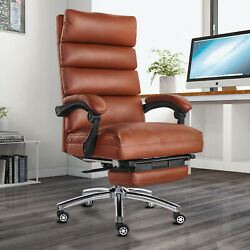 360anddeg Boss Office Chair High Back Recline Pu Leather Black/brown Office Executive