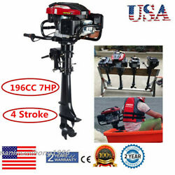 4 Stroke 7 Hp Outboard Motor 196cc Boat Engine With Air Cooling System Usa Stock