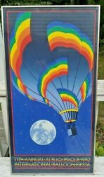 1982 Albuquerque Balloon Fiesta Poster By St.germain Signed And Numbered