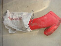 Vintage Snapper Lawn Mower Rear Grass Bagger Catcher Bag And Red Chute