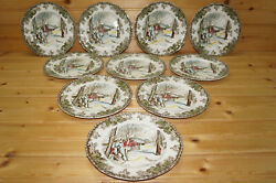 Johnson Brothers Friendly Village 10 Bread And Butter Plates, 6 1/4 England