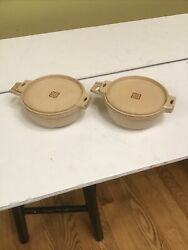 Lot Of 2 Littonware Microwave Cookware 2 Cup Round Bowls With Lids 39278 And 39277