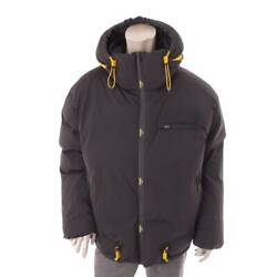 Authentic Fendi 20aw Menand039s Hood Down Coat Jacket Faa769 Black Size L Used