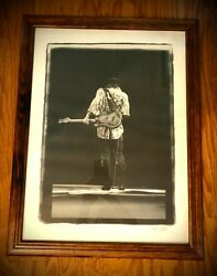 Stevie Ray Vaughan Lithograph Last Call Signed By Photographer W.a. Williams