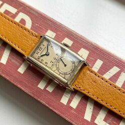 Vintage Hamilton 30s Doctors Watch Manual Wind Tank Sub Dial Gold Filled Watch
