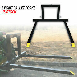 3 Point Pallet Forks Quick Hitch Category 1 Tractor Bucket Attachments Mover