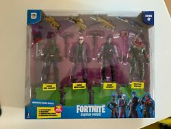 Fortnite Squad Mode 4-figure Pack Series 5 Brand New 2021 Kid Toy Gift