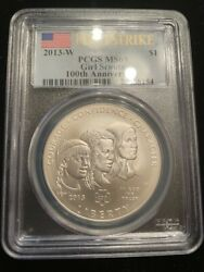 Pcgs 2013-w Girl Scouts Ms69 90 Silver Dollar, First Strike