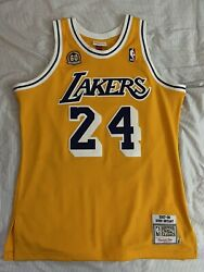Mitchell Ness Kobe Bryant Authentic Jersey 60th Los Angeles Lakers 07-08 Size 44