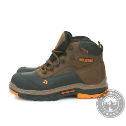 Used Wolverine W10717 Menand039s Overpass 6 Waterproof Boots In Summer Brown - 9.5
