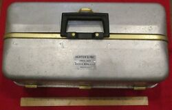 Vintage Herterand039s Tackle Box Aluminum Double Fold-out