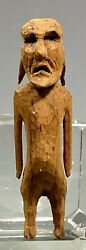 Rare Oceania Possibly Eastern Pacific Islands Carved Wood Hoofed Ancestor Figure