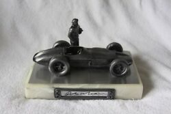 Rick Mears Hand Signed Mike Michael Ricker Pewter Indy Car Sculpture 421/500