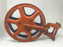 Antique 1900 Cliff And Guibert Nyc Fire Hose Reel Hotel Theater School Free Ship