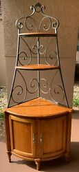 Ethan Allen Corner Cabinet Legacy / Country French Bakerand039s Rack Wrought Iron
