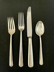 Towle Rambler Rose 4 Piece Place Setting Sterling Price Per Place Setting