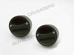 Willys Mb Ford Gpw Jeep Truck Military Cat Eye Rear Tail Light 4'' Pair G27 C4