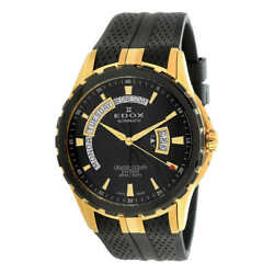 New Edox 83006 3ca Grand Ocean Automatic Day And Date Black Dial Watch 2,750