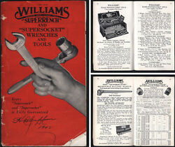 .j.h. Williams And Co. Buffalo - Superwrench And Supersocket Catalog - 64 Pages