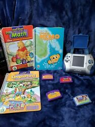 Leapfrog Leapster L-max Handheld Learning Game System Console With 8 Games/books