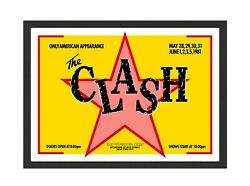 The Clash @ Bond's 1981 Silk Screened Tour Poster Limited Edition