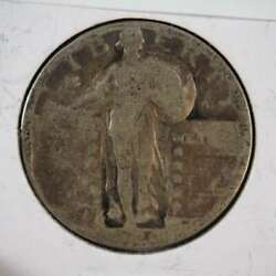 1929 P Standing Liberty Quarter 90 Silver Us Coin About Good Ag - Sku 193usq