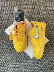 Nike Air Force 1 Low X Off-white University Gold - Us Size 4.5 M / Us Size 6 W