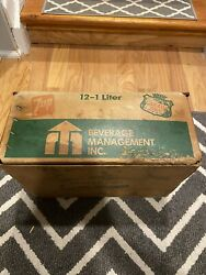 Vintage 7 Up Seven Up Canada Dry Heavy Waxed Cardboard Crate Box Metal Frame