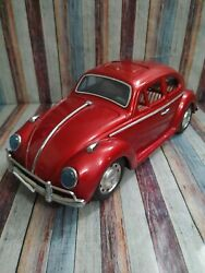 Vintage Vw Beetle Tin Toy - Mark Of Quality Made In Japan