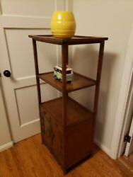 Vintage Antique Asian 2 Tiered Display Cabinet